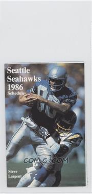 1986 Seattle Seahawks - Team Schedules #STLA - Steve Largent