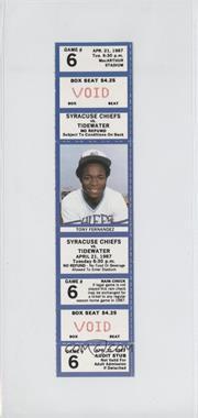 1987 Syracuse Chiefs - Ticket Stubs #6 - April 21 vs. Tidewater Tides (Tony Fernandez)