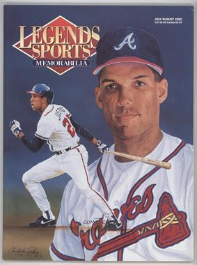 1988-2001 Legends Sports Memorabilia - [Base] #7-92 - July/August 1992 (David Justice)