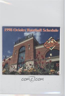 1988 Baltimore Orioles - Team Schedules #BAOR - Memorial Stadium