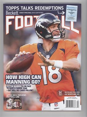 1989-Now Beckett Football - [Base] #12-13 - December 2013 (Peyton Manning)