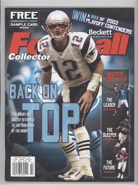 1989-Now Beckett Football - [Base] #167 - February 2004 (Tom Brady)