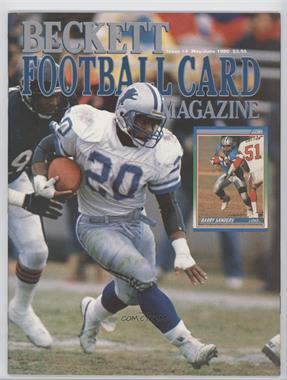 1989-Now Beckett Football - [Base] #4 - May/June 1990 (Barry Sanders)