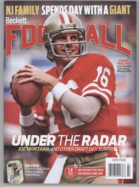 1989-Now Beckett Football - [Base] #7-13 - July 2013 (Joe Montana)