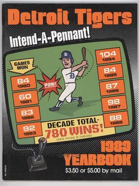 1989 Detroit Tigers - Yearbook #DETI - Detroit Tigers Team
