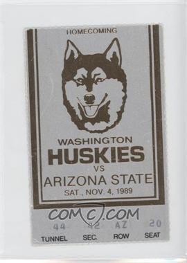 1989 Washington Huskies - Football Ticket Stubs #11-4 - vs. Arizona State Sun Devils [GoodtoVG‑EX]