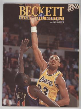 1990-Now Beckett Basketball - [Base] #12 - July 1991 (Kareem Abdul-Jabbar) [Good to VG‑EX]