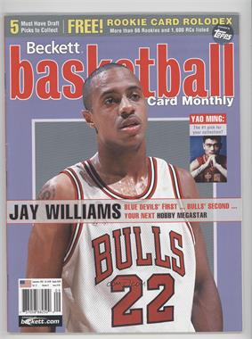 1990-Now Beckett Basketball - [Base] #146 - September 2002 (Jay Williams)