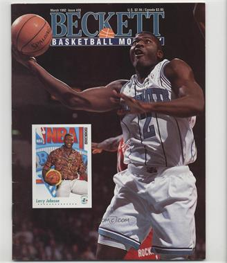 1990-Now Beckett Basketball - [Base] #20 - March 1992 (Larry Johnson) [Good to VG‑EX]