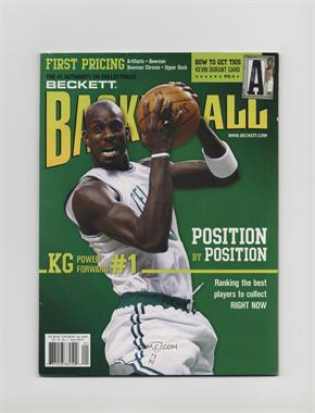 1990-Now Beckett Basketball - [Base] #210 - January 2008 (Kevin Garnett)