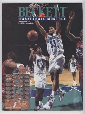 1990-Now Beckett Basketball - [Base] #36 - July 1993 (Alonzo Mourning) [Good to VG‑EX]