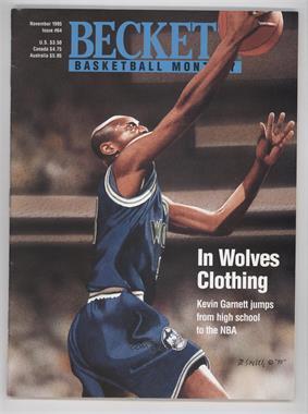 1990-Now Beckett Basketball - [Base] #64 - November 1995 (Kevin Garnett)