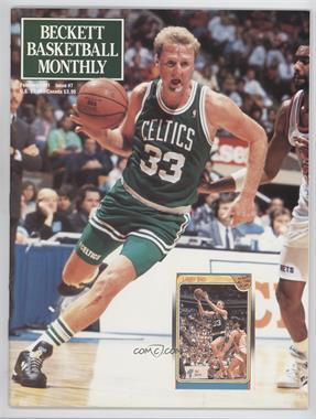 1990-Now Beckett Basketball - [Base] #7 - February 1991 (Larry Bird)