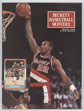 1990-Now Beckett Basketball - [Base] #8 - March 1991 (Clyde Drexler)