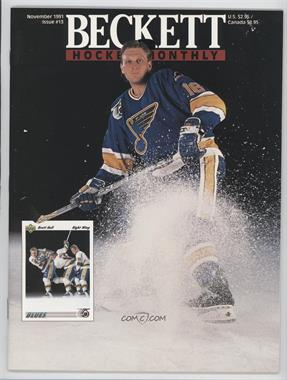 1990-Now Beckett Hockey - [Base] #13 - November 1991 (Brett Hull)
