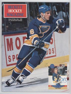 1990-Now Beckett Hockey - [Base] #2 - November/December 1990 (Brett Hull)