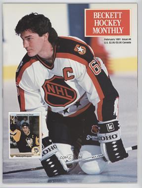 1990-Now Beckett Hockey - [Base] #4 - February 1991 (Mario Lemieux, Joe Sakic)