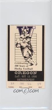 1990 Washington Huskies - Football Ticket Stubs #10-13 - vs. Oregon Ducks