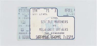 1991 Seattle Mariners - Ticket Stubs #6-8 - vs. Milwaukee Brewers
