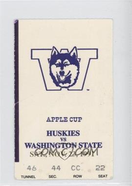 1991 Washington Huskies - Football Ticket Stubs #11-23 - vs. Washington State Cougars [GoodtoVG‑EX]