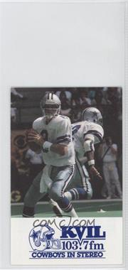1992 Dallas Cowboys - Team Schedules #TRAI - Troy Aikman