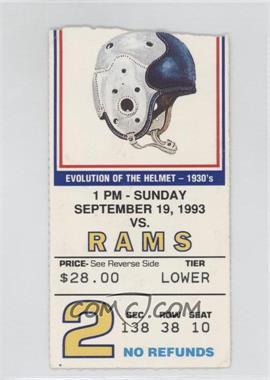 1993 New York Giants - Ticket Stubs #2 - Septamber 19 vs. Los Angeles Rams [GoodtoVG‑EX]
