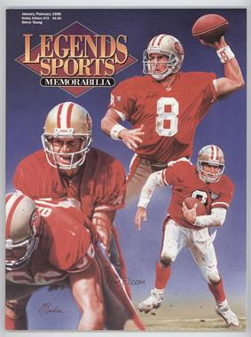 1996 Legends Sports Memorabilia - [Base] #72 - January/February (Steve Young)
