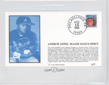1996 Little Sun Baseball Silk Postal Caches - [Base] #N/A - Andruw Jones