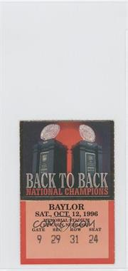 1996 Nebraska Cornhuskers - Football Ticket Stubs #10-12 - vs. Baylor Bears