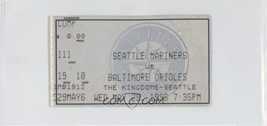 1996 Seattle Mariners - Ticket Stubs #5-29 - vs. Baltimore Orioles