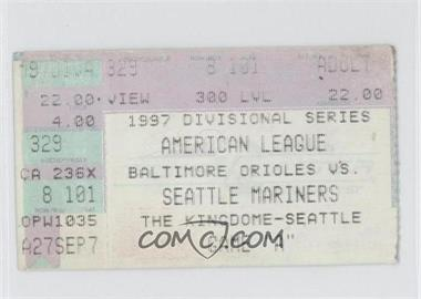 1997 Seattle Mariners - Ticket Stubs #ALDS1 - American League Division Series Game 1 vs. Baltimore Orioles [Good to VG‑EX]