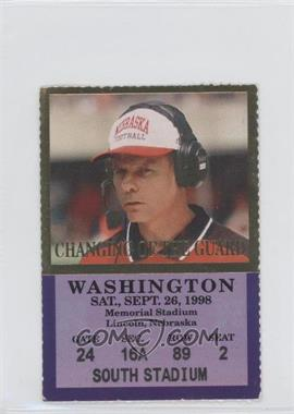 1998 Nebraska Cornhuskers - Football Ticket Stubs #9-26 - vs. Washington Huskies (Frank Solich) [GoodtoVG‑EX]