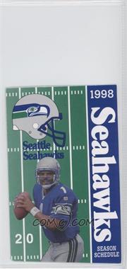 1998 Seattle Seahawks - Team Schedules #WAMO.1 - Warren Moon (United Airlines back)