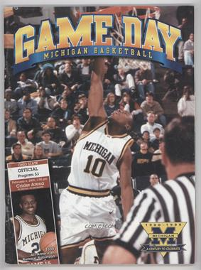 1999-00 Michigan Wolverines - Men's Basketball Game Programs #15 - vs. Ohio State, February 6, 2000 (Darius Taylor) [GoodtoVG‑EX]
