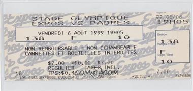 1999 Montreal Expos - Ticket Stubs #8-6 - vs. San Diego Padres