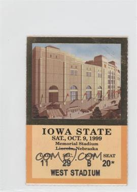 1999 Nebraska Cornhuskers - Football Ticket Stubs #10-9 - vs. Iowa State Cyclones [GoodtoVG‑EX]