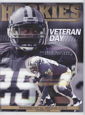 2000 Washington Huskies - Gameday Magazine Game Programs #3 - October 7 vs. Oregon State (Curtis Williams, Elliot Silvers)