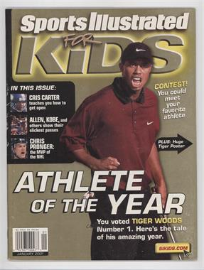 2001 Sports Illustrated for Kids - [Base] #1 - January (Tiger Woods) [Good to VG‑EX]