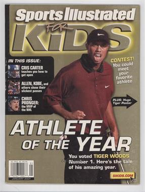 2001 Sports Illustrated for Kids - [Base] #1 - January (Tiger Woods) [GoodtoVG‑EX]