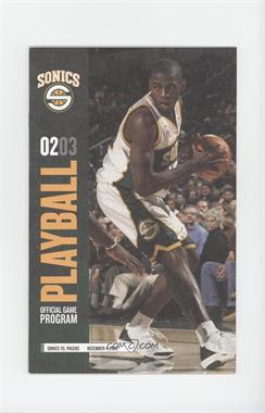 2002-03 Seattle Supersonics - Playball Official Game Programs #12-4 - vs. Indiana Pacers (Desmond Mason)