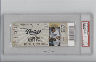 2008 San Diego Padres Ticket Stub - [Base] #510 - Greg Maddux (May 10, 2008 Career Win #350) [PSA 10]
