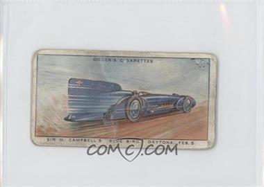 "1931 Ogden's Motor Races 1931 - Tobacco [Base] #1 - Sir M. Campbell's ""Blue Bird,"" Daytona, Feb. 5 [GoodtoVG‑EX]"