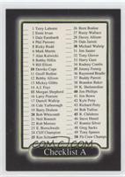 Checklist (#85 Tim Morgan)