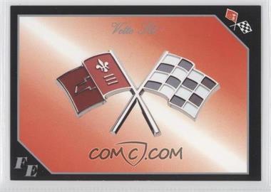 1991 Collect-A-Card Vette Set - [Base] #45 - Corvette Flag Emblem