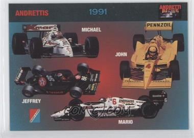 1992 Collect-A-Card Andretti Racing - [Base] #75 - Michael Andretti, John Andretti, Mario Andretti, Jeffrey Andretti