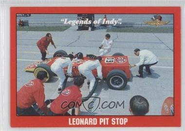 1992 Collegiate Collection Legends of Indy - [Base] #70 - Leonard Pit Stop