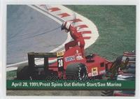 April 28, 1991/Prost Spins out before start/San Marino