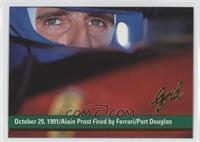 October 29, 1991/Alain Prost Fired by Ferrari/Port Douglas