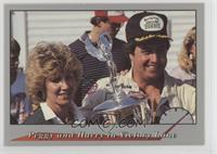 Peggy and Harry in Victory Lane