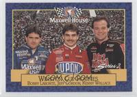 Bobby Labonte, Jeff Gordon, Kenny Wallace